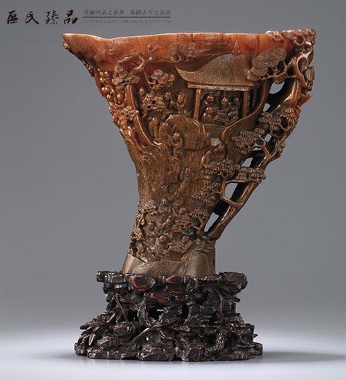 独树一帜的犀角雕刻_区氏臻品紫檀红木家具