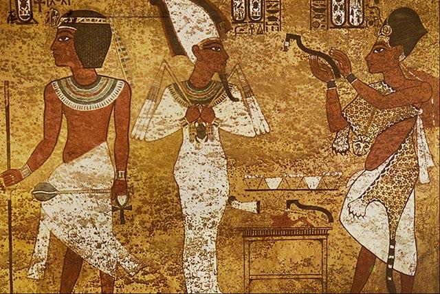 壁画上记录的古埃及人的生活